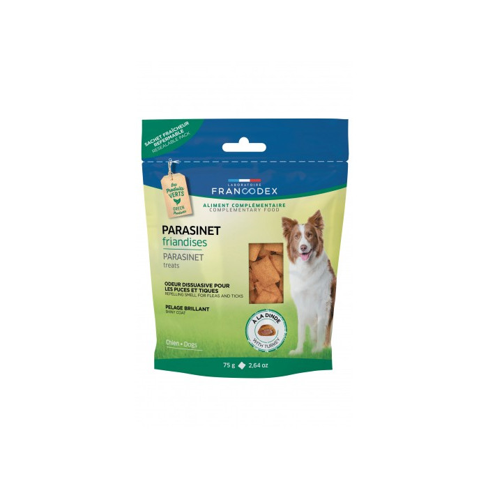 FRANCODEX Šunų pašaro papildas, saugantis nuo parazitų