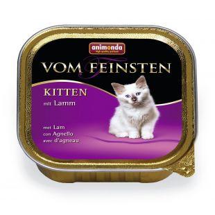 ANIMONDA Vom feinsten kitten Konservuotas pašaras katėms su ėriena 100 g