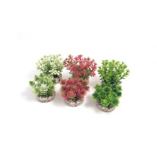 SYDEKO Nano Bush Natural Plastikinis augalas 9 cm