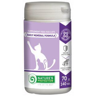 NATURE'S PROTECTION Daily Vitamins Formula Papildai katėms 140 tbl., 70 g