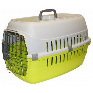 MODERNA PRODUCTS Boksas gyvūno transportavimui žalias, 58x35x37 cm