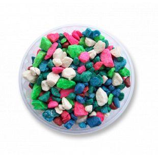 ZOOLOGIA Žvyras akvariumams spalvotas  maišytas mėlynas/baltas/žalias/raudonas, 450g