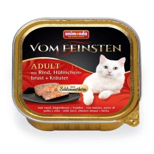 ANIMONDA Vom feinsten schlemmerkern Konservuotas pašaras katėms su jautiena, vištienos krūtinėle ir žolelėmis 100 g