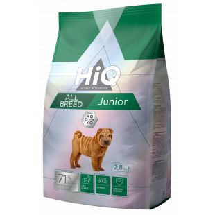 HIQ All Breed Junior Poultry Sausas pašaras šunims 2.8 kg