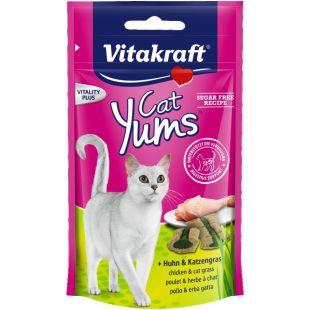 VITAKRAFT Cat Yums Skanėstas su vištiena ir kačių žole 40 g
