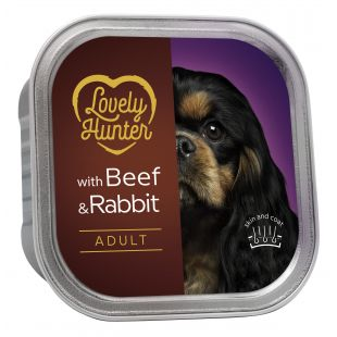 LOVELY HUNTER Dog adult beef and rabbit Konservuotas pašaras, 150 g