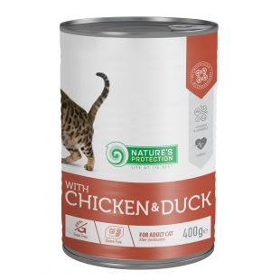 NATURE'S PROTECTION Cat Sterilised with chicken & duck Konservuotas pašaras 400 g