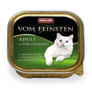 ANIMONDA Vom feinsten classic Konservuotas pašaras katėms su kalakutiena+triušiena 100 g