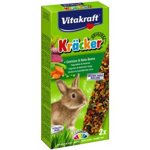 VITAKRAFT Kracker Gradėsis triušiams 2 vnt,  su daržovėmis