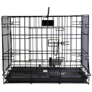HIPPIE PET Narvas  gyvūnui transportuoti, metalinis juodas, 91x56x67 cm