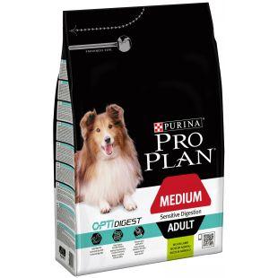 PRO PLAN Sensitive Digestion Medium Adult Lamb Sausas pašaras šunims 3 kg
