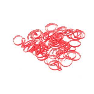 LAINEE Gumytės lateksinės 100vnt, minkštos  raudonos spalvos, 8mm