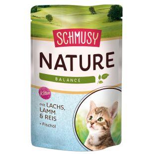 FINNERN MIAMOR Schmusy Nature Konservuotas pašaras kačiukams su lašiša ir ėriena drebučiuose 100 g