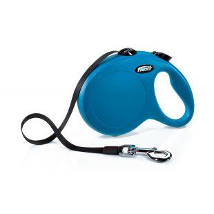 FLEXI Classic Pavadis, max 50kg, 5m juostelinis mėlynas, L