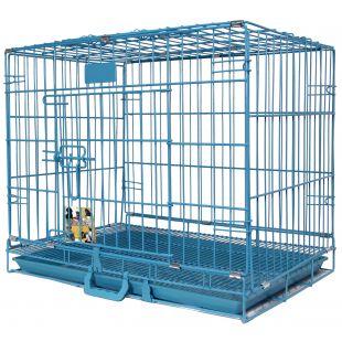 HIPPIE PET Narvas  gyvūnui transportuoti, metalinis mėlynas, 91x56x67 cm