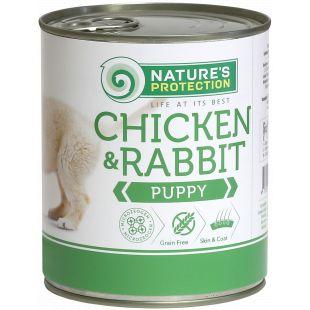 NATURE'S PROTECTION Puppy Chicken&Rabbit Konservuotas pašaras šunims 800 g