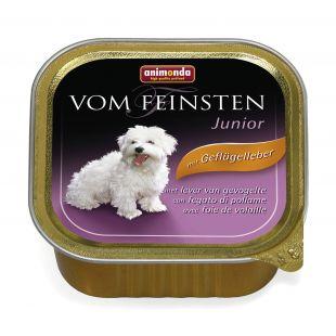 ANIMONDA Vom feinsten Junior Konservuotas pašaras jauniems šunims su paukštienos kepenėlėmis 150 g