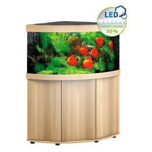 JUWEL LED Trigon 350 Akvariumas kampinis šviesaus medžio spalvos