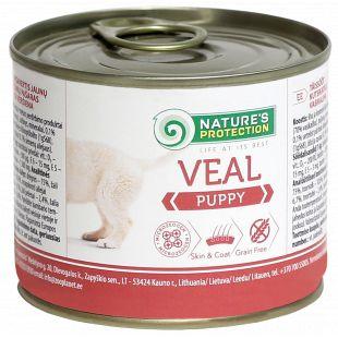 NATURE'S PROTECTION Puppy Veal Konservuotas pašaras šunims 200 g