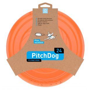 PULLER PitchDog Žaislas šunims 24 skraidantis diskas oranžinis, 24 cm