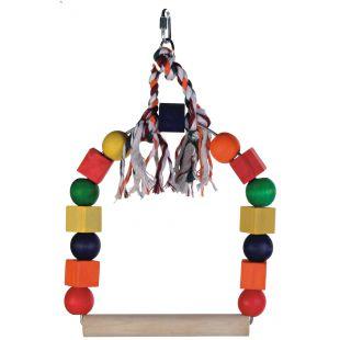 TRIXIE Žaislais paukščiams Medinės sūpuoklės 20x29 cm