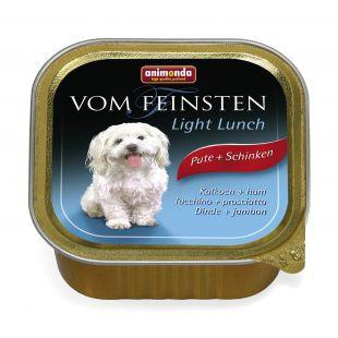 ANIMONDA Vom feinsten light lunch Konservuotas pašaras šunims su kalak ir kumpiu 150 g