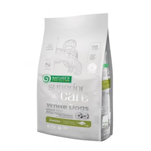 NATURE'S PROTECTION SUPERIOR CARE White Dogs Small & Mini Breeds Junior Grain Free White Fish Sausas pašaras šunims 1.5 kg