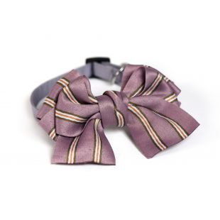 CHEE PET Kaspinas su juostelėmis violetinis, S