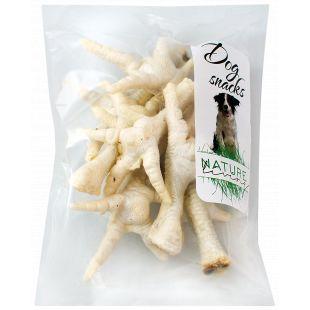 NATURE LIVING Skanėstas šunims Džiovintos vištų kojelės baltos 100 g