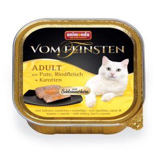 ANIMONDA Vom feinsten schlemmerkern Konservuotas pašaras katėms su kalakutiena, jautiena ir morkomis 100 g
