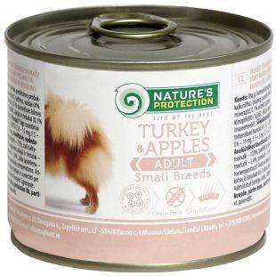 NATURE'S PROTECTION Dog Adult Small Breeds Turkey&Apples Konservuotas pašaras 200 g