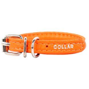 COLLAR Odinis antkaklis apvalus ilgaplaukiams šunims oranžinis, 0.6cx25-33 cm