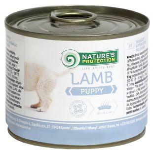 NATURE'S PROTECTION Puppy Lamb Konservuotas pašaras šunims 200 g