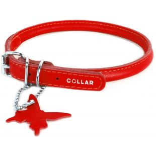 COLLAR Odinis antkaklis ilgaplaukiams šunims, apvalus raudonas, 0.8x33-41 cm