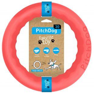 PULLER PitchDog Žaislas šunims 28 žiedas rožinis, 28 cm