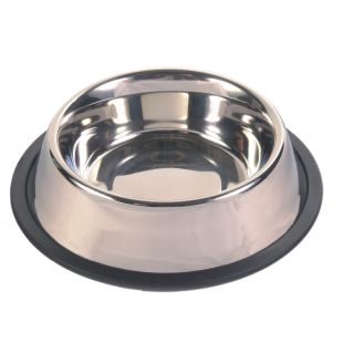 TRIXIE Dubenėlis šunims metalinis su guma 0.45 l, 14 cm