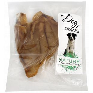 NATURE LIVING Skanėstas šunims Džiovinta kiaulės ausis pakuota 1 vnt.