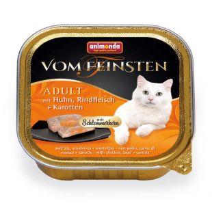 ANIMONDA Vom feinsten schlemmerkern Konservuotas pašaras katėms su vištiena, jautiena ir morkomis 100 g