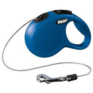 FLEXI Classic Pavadis, max 8kg, 3m virvelinis mėlynas, XS