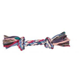 TRIXIE Žaislas šunims susukta spalvota virvė 125 g, 26 cm