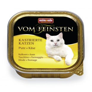 ANIMONDA Vom feinsten konservuotas sterilizuotų kačių pašaras su kalakutiena ir sūriu, 100 g