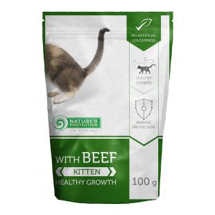 NATURE'S PROTECTION Kitten Konservuotas pašaras su jautiena 100 g
