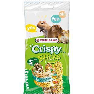 VERSELE LAGA Crispy Sticks Omniivores - Gardėsiai graužikams trijų skonių 3 vnt