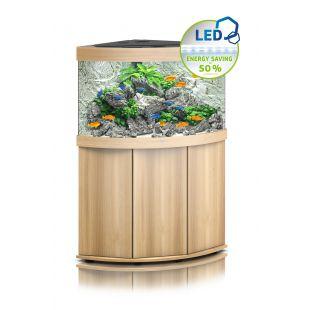 JUWEL LED Trigon 190 Akvariumas kampinis šviesaus medžio spalvos