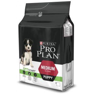 PRO PLAN OPTISTART Medium Puppy, sausas pašaras jauniems, vidutinio dydžio šunims su vištiena 3 kg
