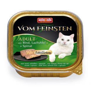 ANIMONDA Vom feinsten schlemmerkern Konservuotas pašaras katėms su jautiena, lašišos file ir špinatais 100 g