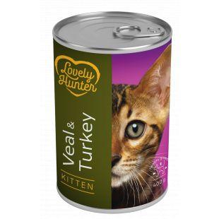 LOVELY HUNTER Kitten veal and turkey Konservuotas pašaras 400 g