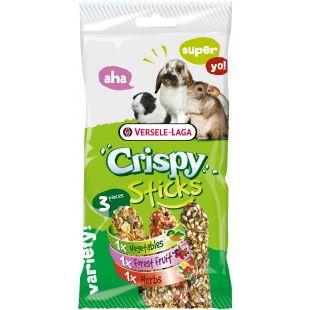 VERSELE LAGA Crispy Sticks Herbivores - Gardėsiai graužikams trijų skonių 3 vnt.