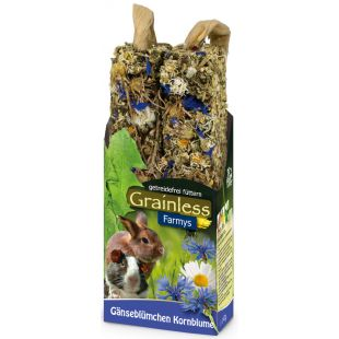 JR FARM Grainless Farmys Gardėsis graužikams su rugiagėlėmis, 140 g