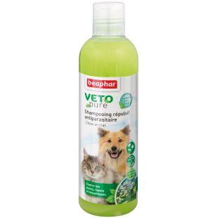 BEAPHAR VETO Pure Šampūnas nuo blusų, erkių, vabzdžių šunims ir katėms 250 ml